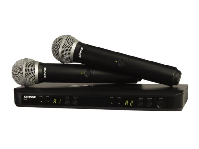 Where to find SHURE BLX288 PG58 DUAL HANDHELD PKG in Minneapolis